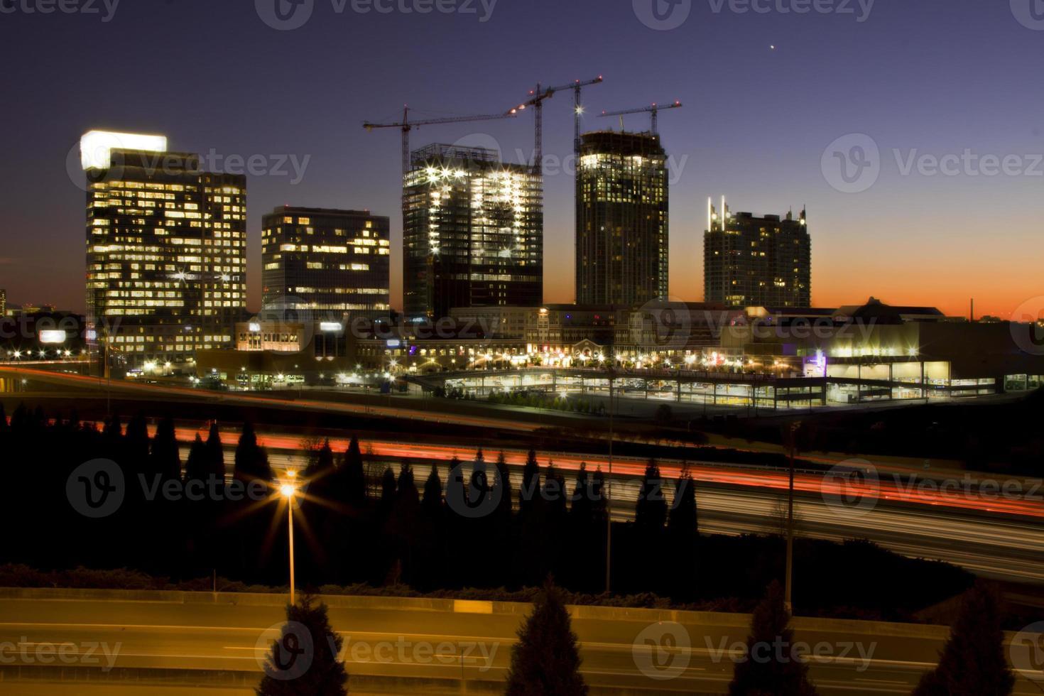 coucher de soleil à atlanta photo