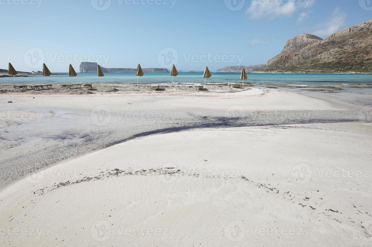 plage de balos en crète. paysage méditerranéen. Grèce photo