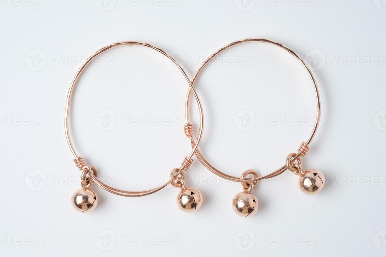 bracelet de cheville en or rose pour bébé photo