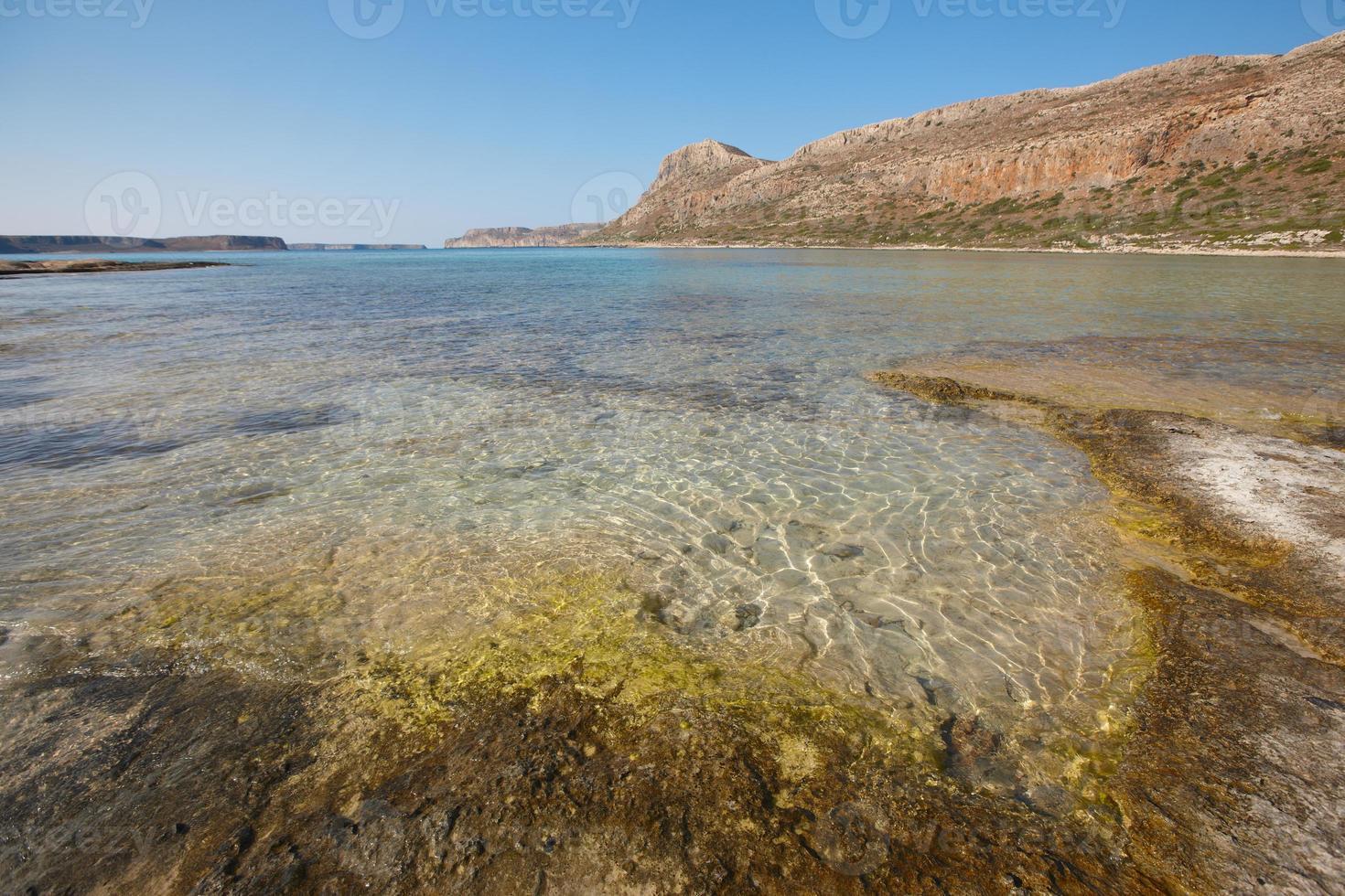 plage de balos dans la péninsule de gramvousa. Crète. Grèce photo