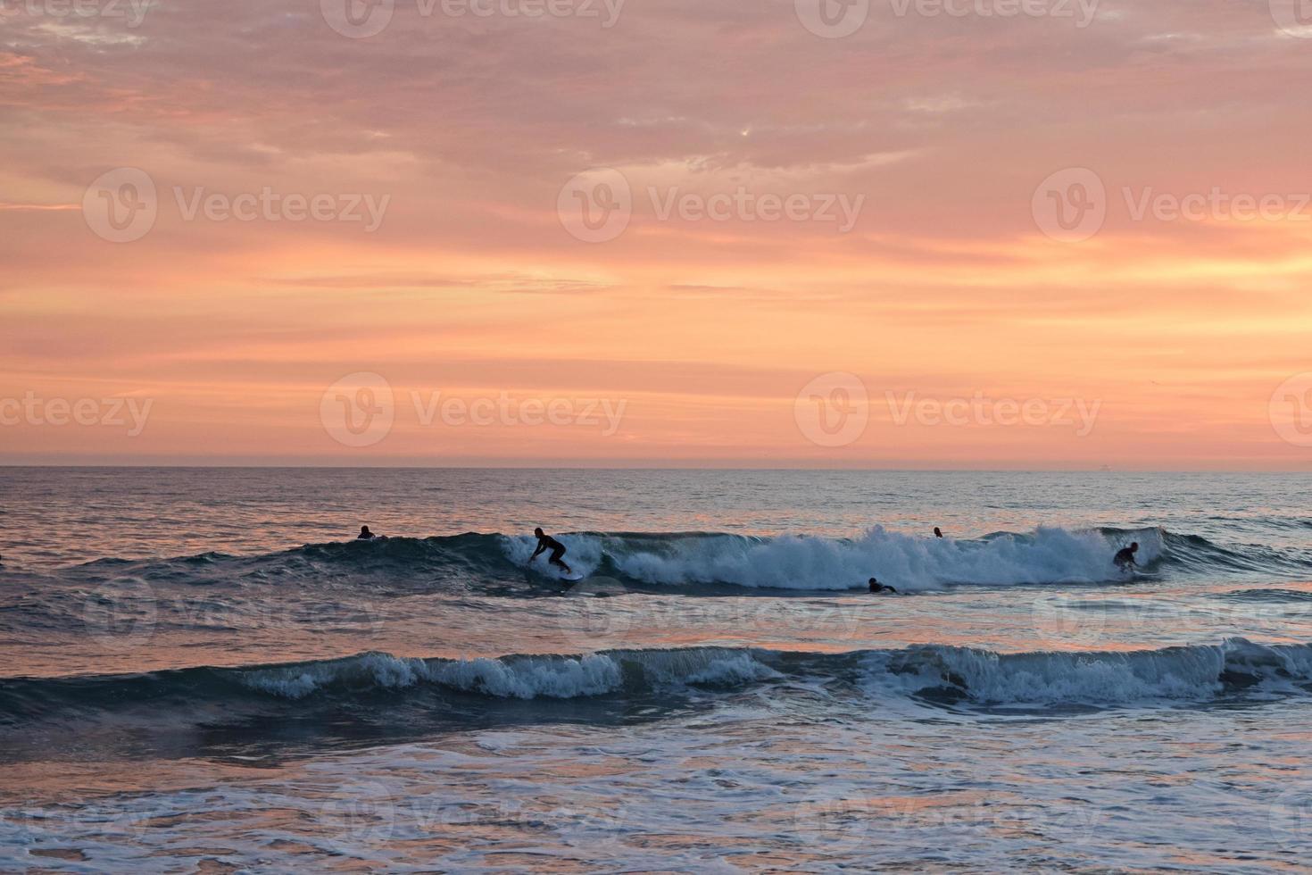coucher de soleil été plage newport photo