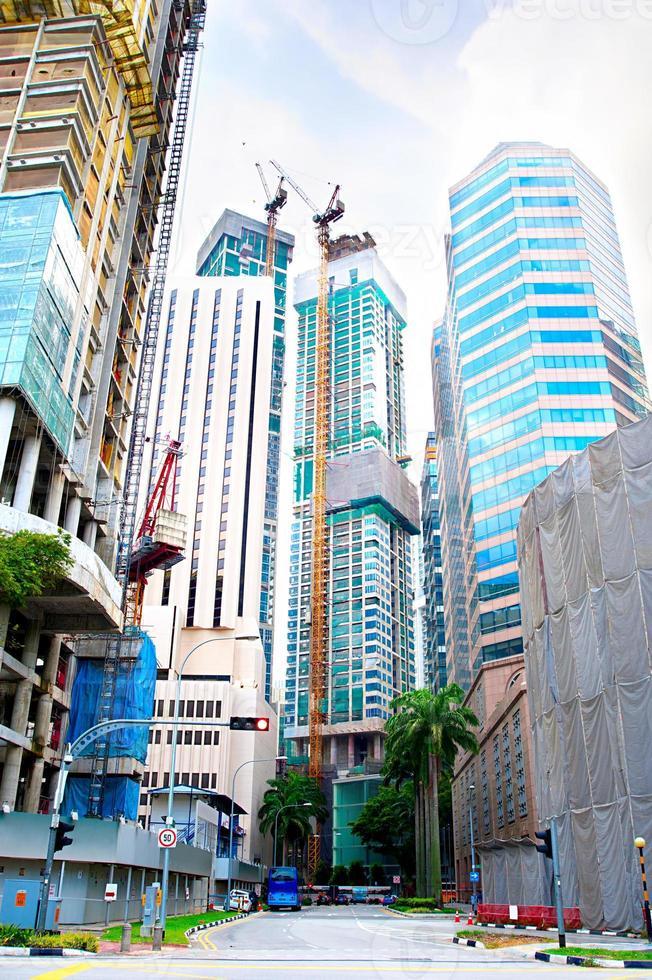 construction de singapour photo