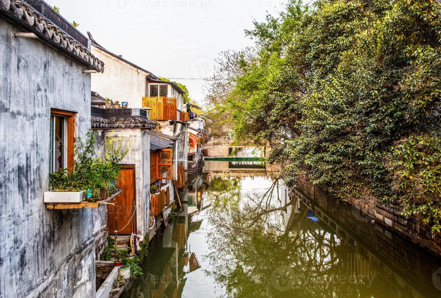 maisons folkloriques et canaux de suzhou photo