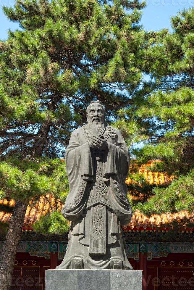 statue de confucius photo