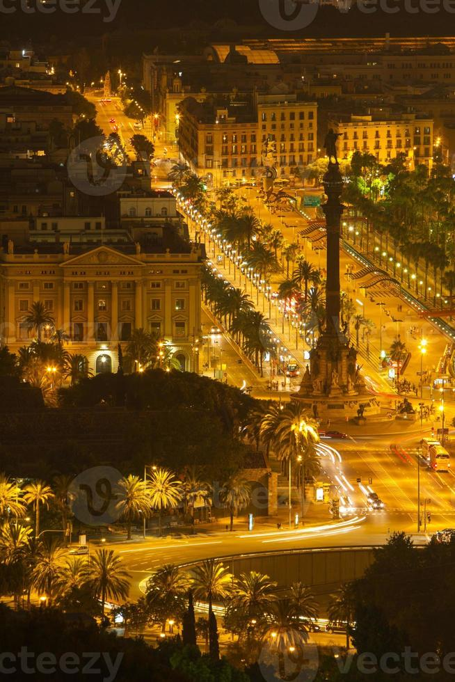 nigth shot of colon monument photo