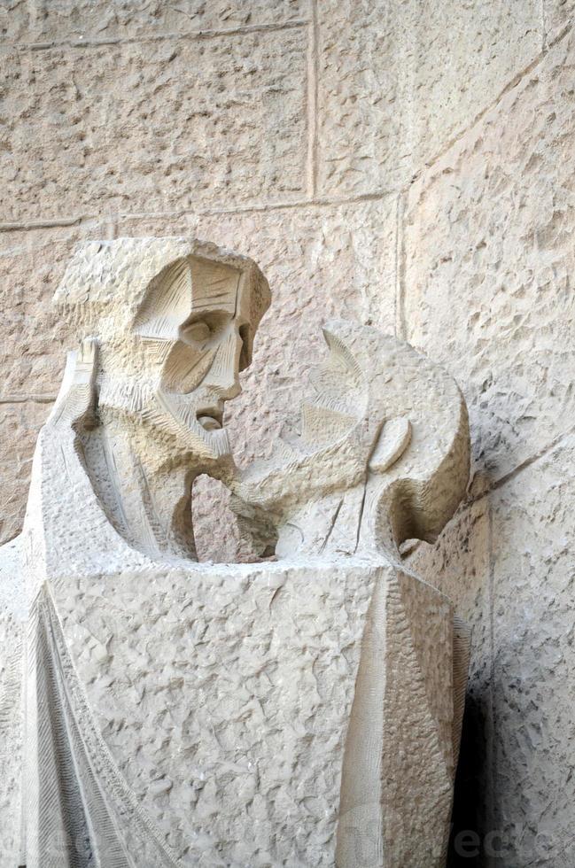détails architecturaux de la sagrada familia barcelona photo