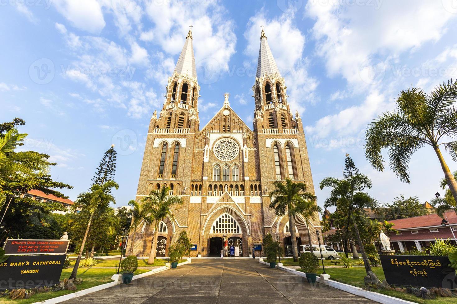 cathédrale saint mary. yangon. myanmar. photo