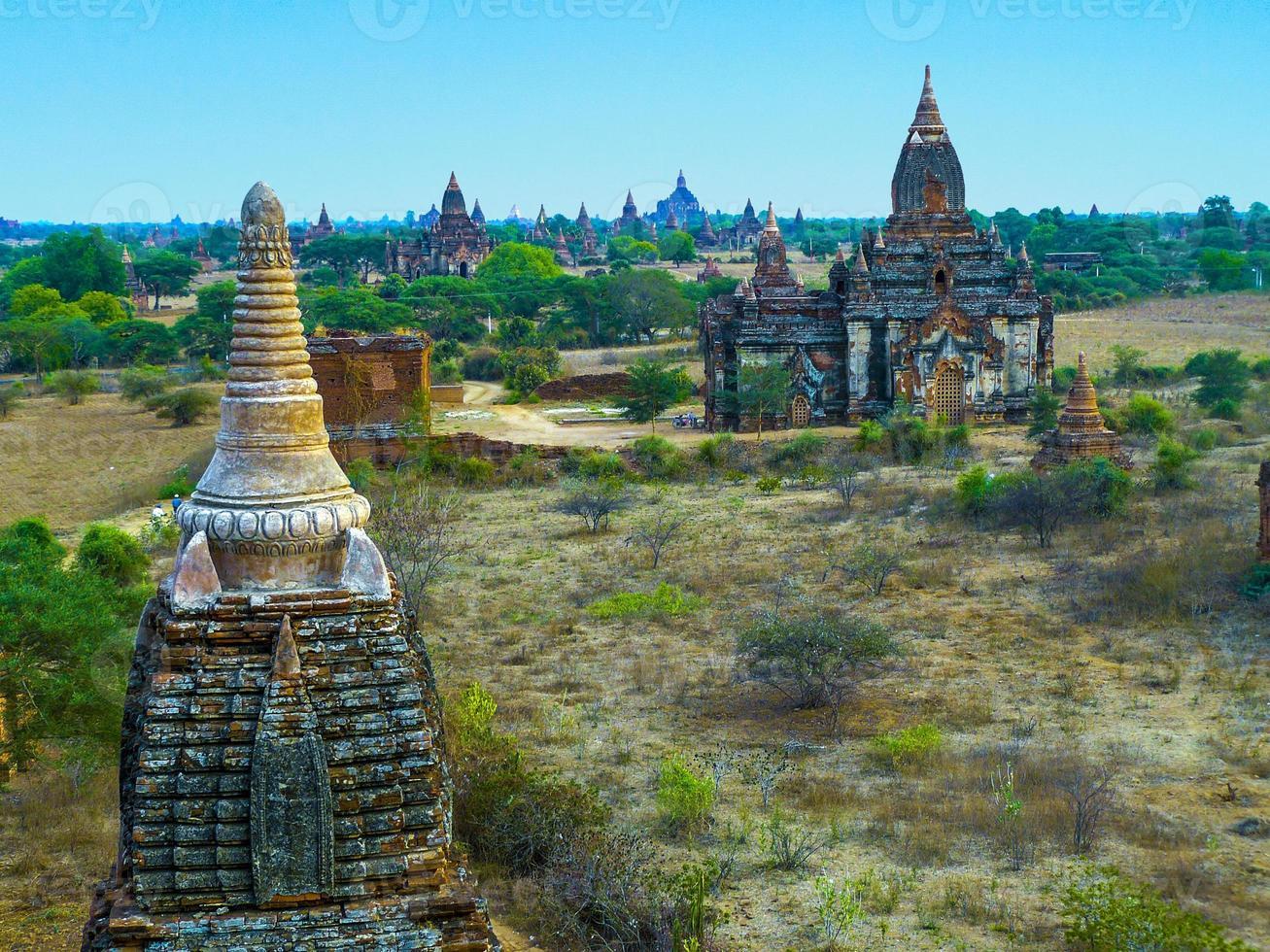 Pagode à Bagan (païen), Mandalay, Myanmar photo