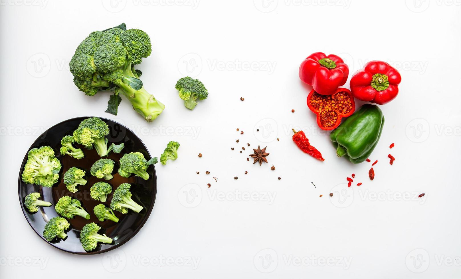 brocoli au poivron. photo