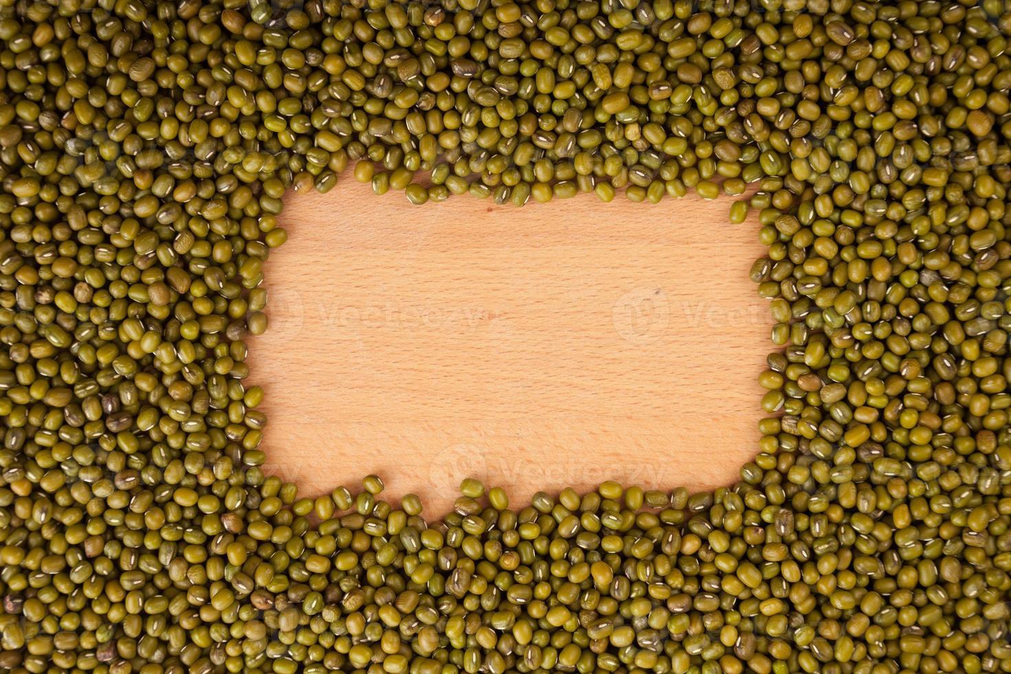 haricots mungo avec espace copie rectangulaire photo