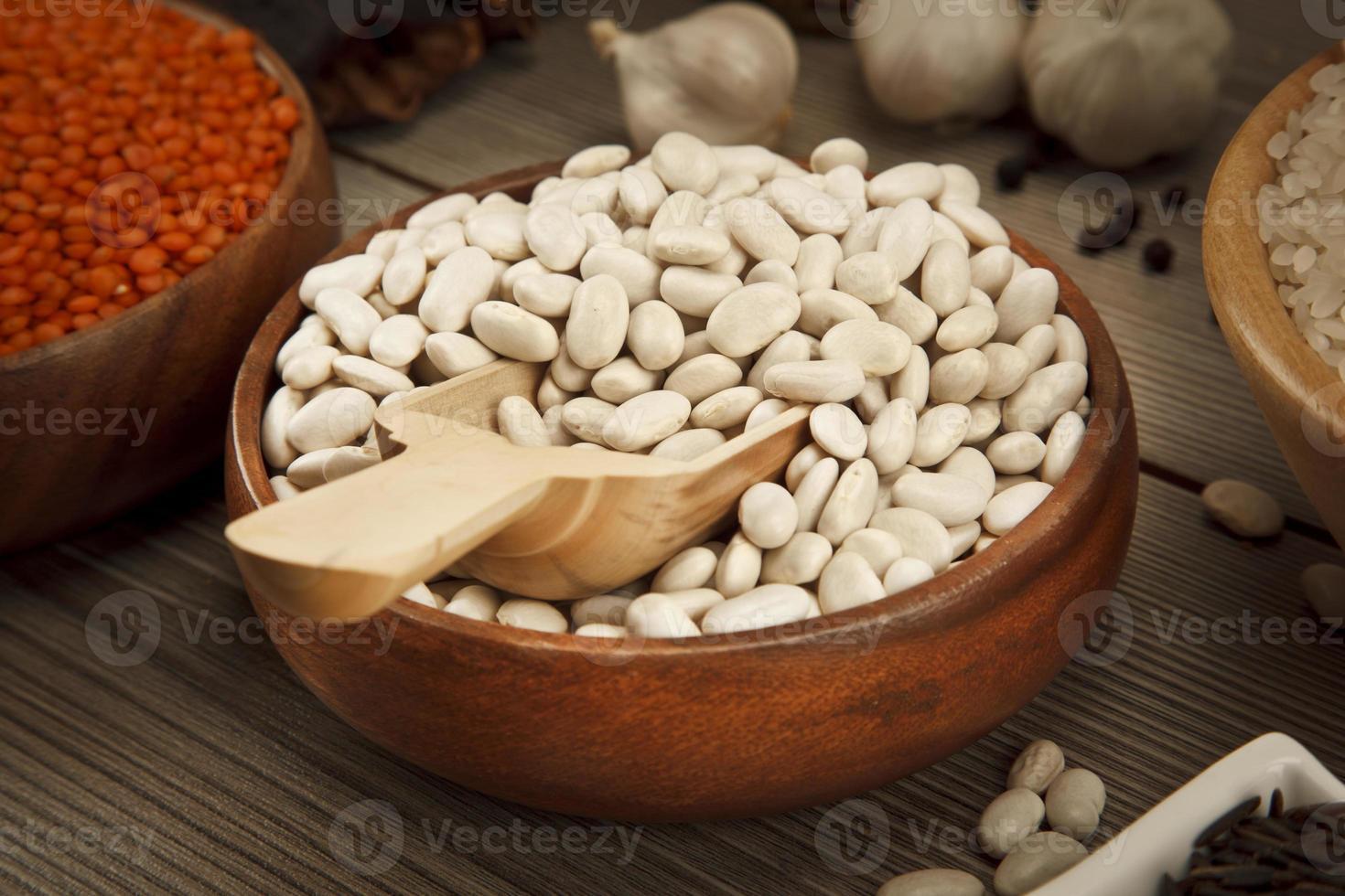 concept de graines de haricot photo