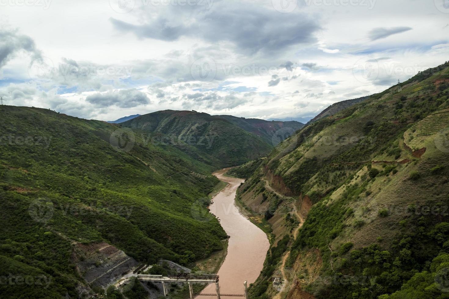 paysage du yunnan chinois photo