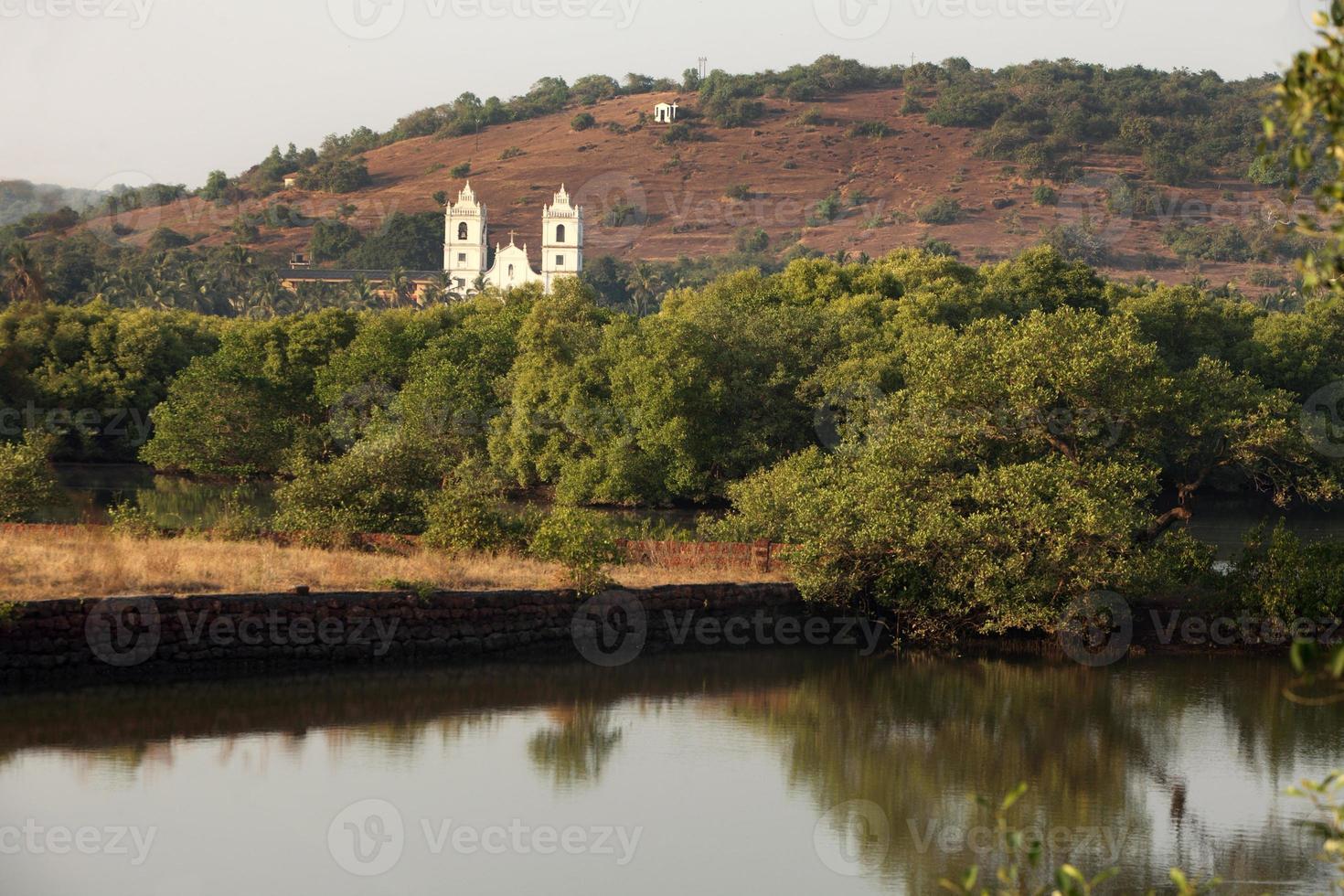 paysage de l'église de goa photo