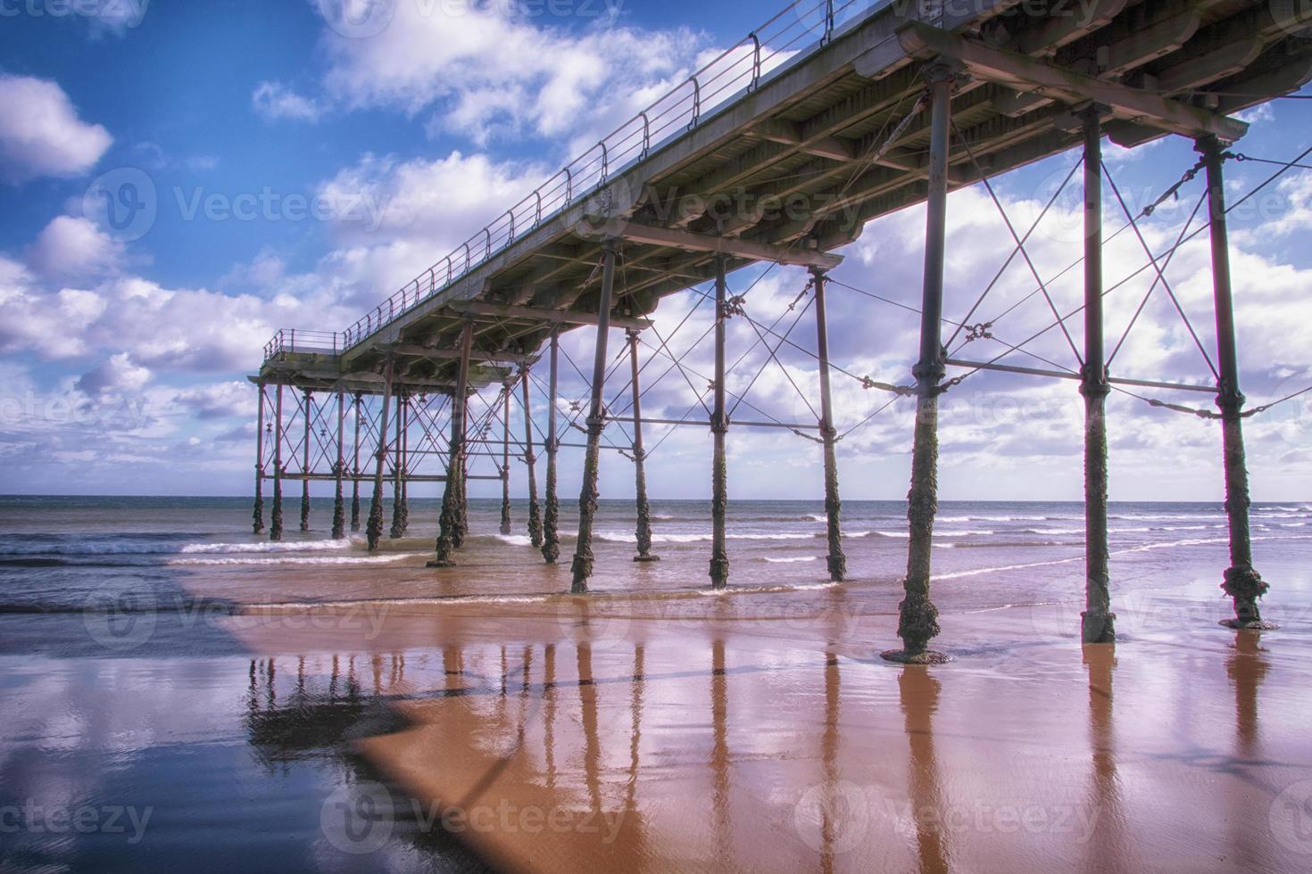 Saltburn pier Cleveland England uk photo