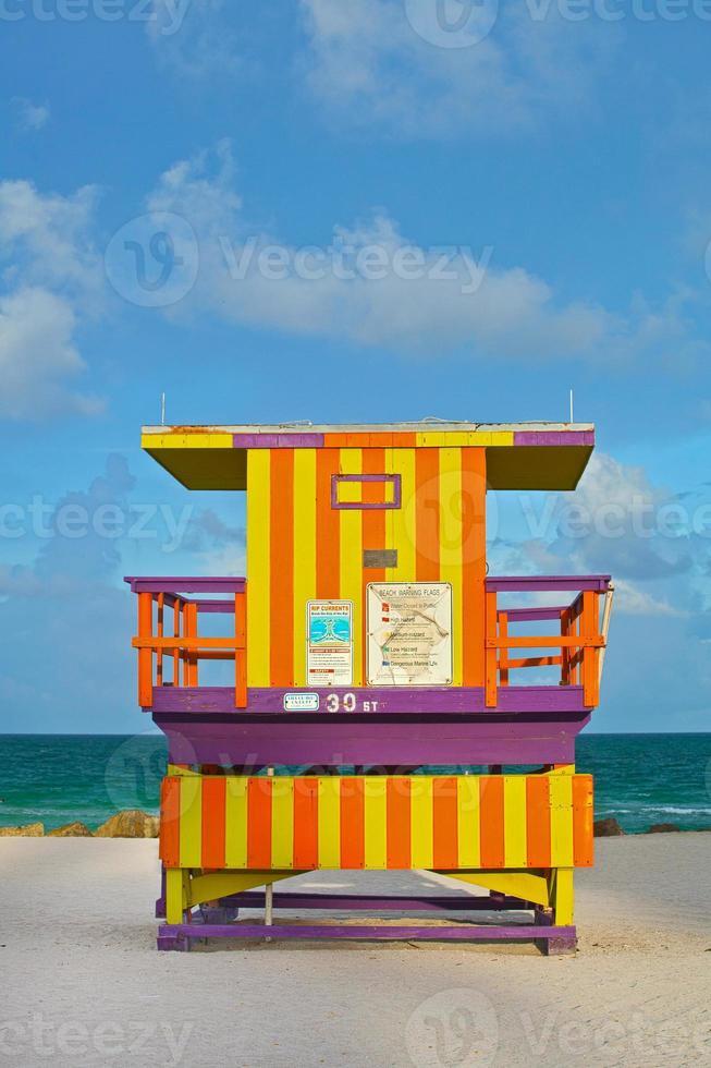Miami beach florida usa, maison de maître nageur art déco photo