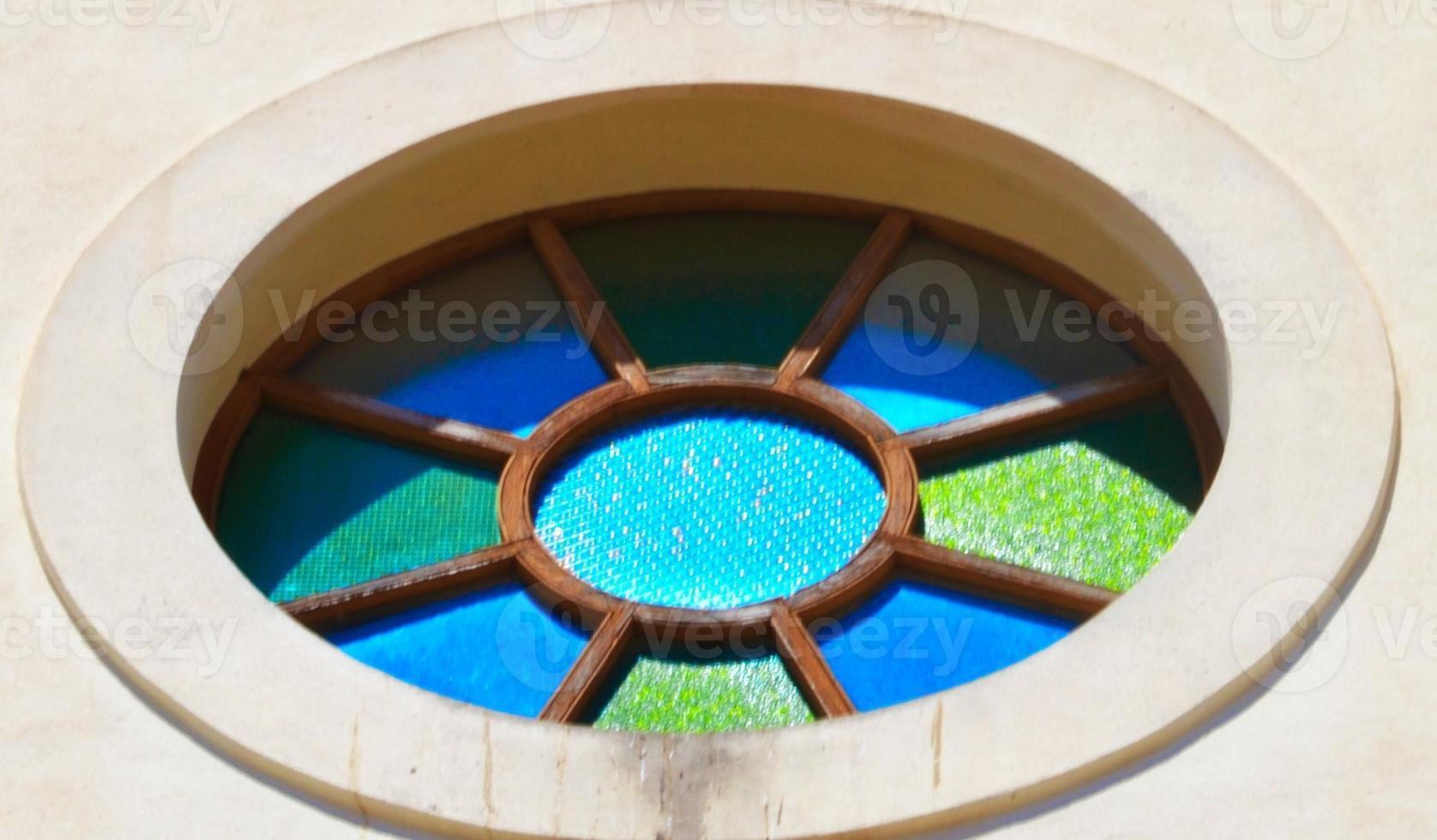 rosone della cattedrale di ibiza photo