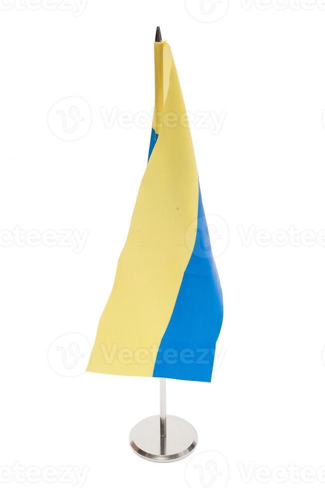 drapeau ukraine isolé photo