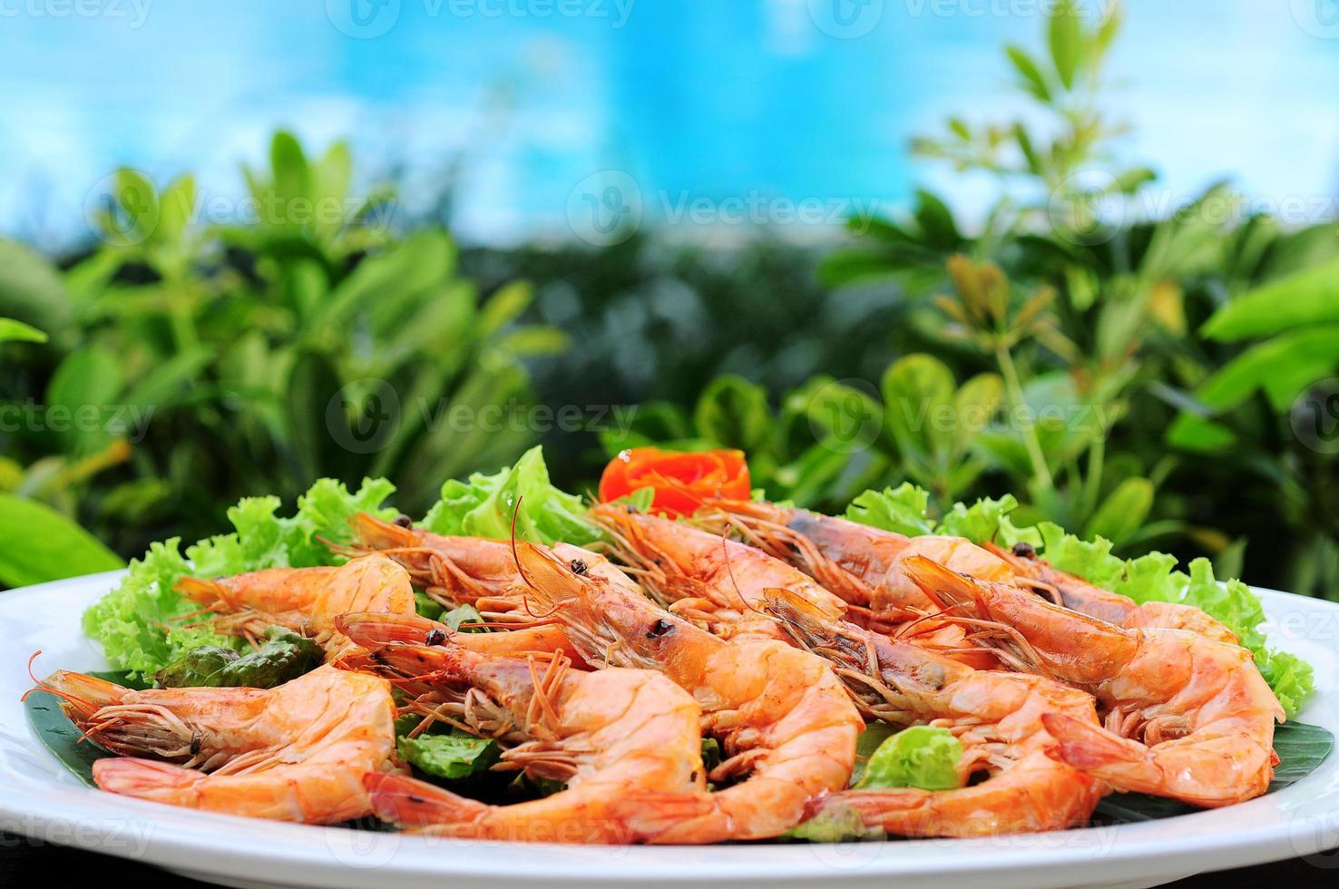 crevettes en plein air photo