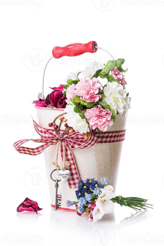 ruban noeud de boîte cadeau fleurs photo