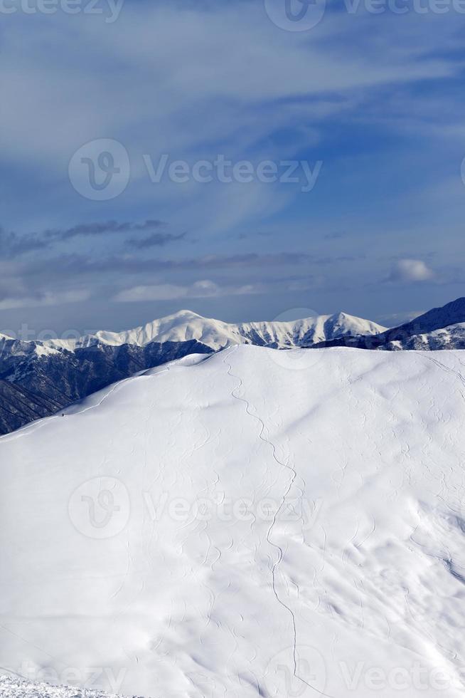 piste de ski pour freeride photo