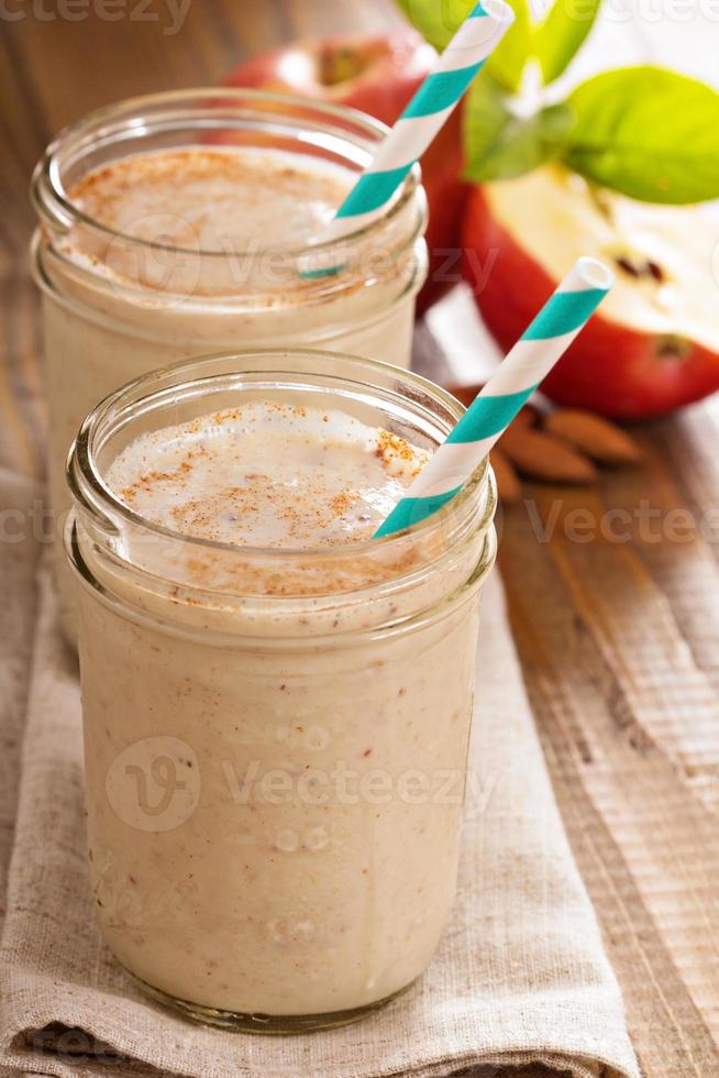 smoothie pomme banane cannelle photo