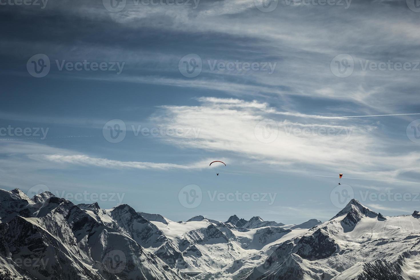 Région de ski de Kitzsteinhorn en Autriche photo