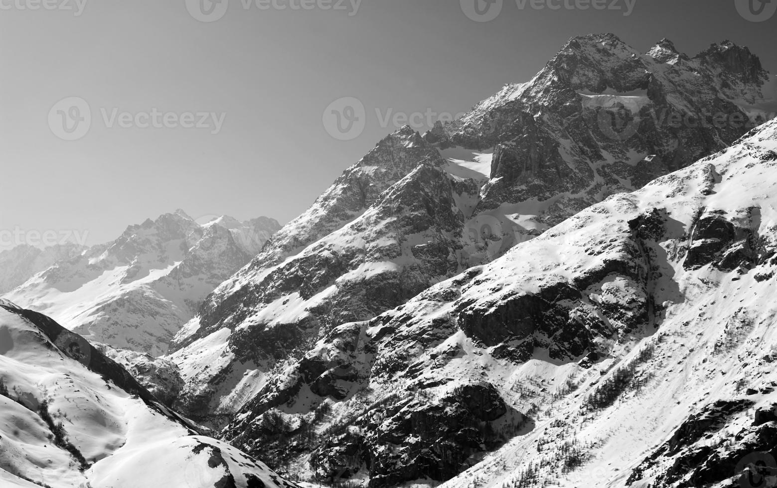 sommets des montagnes photo