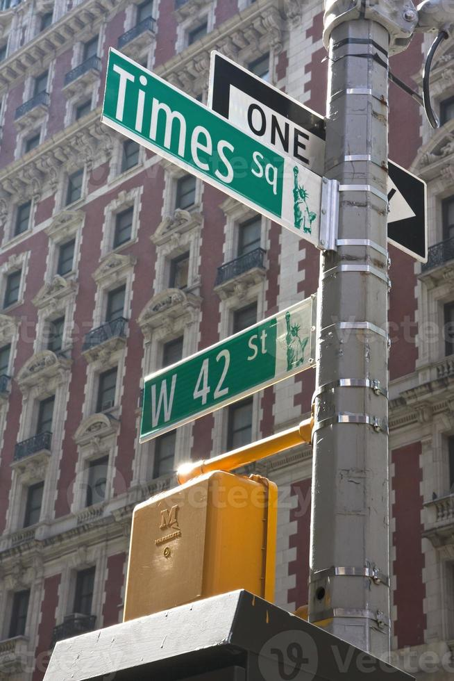 USA - New York - New York, panneau de signalisation photo