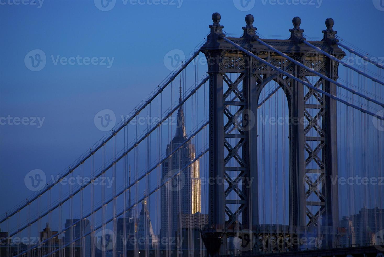 pont de manhattan et empire state building photo
