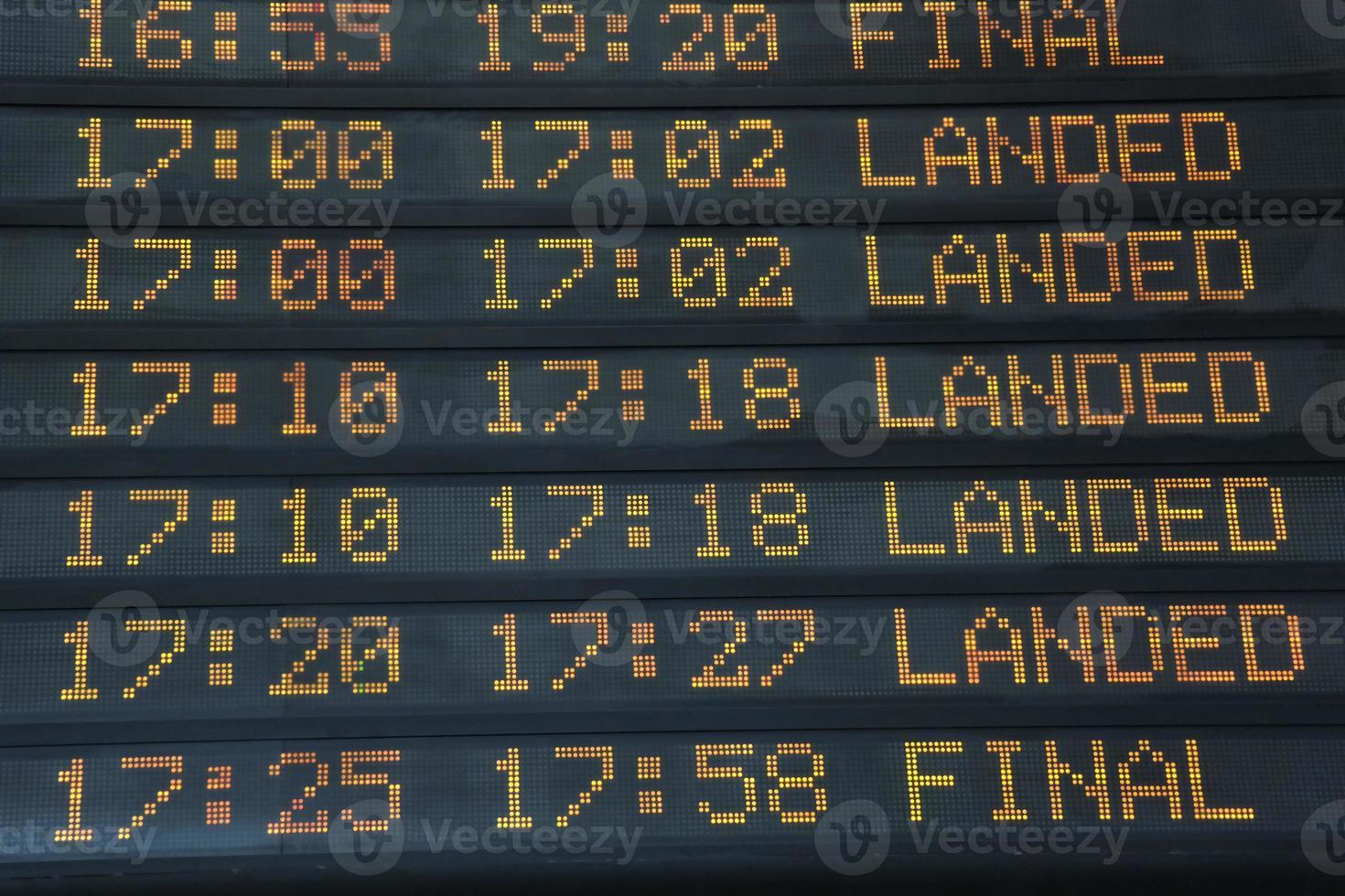 panneau d'information sur les vols photo