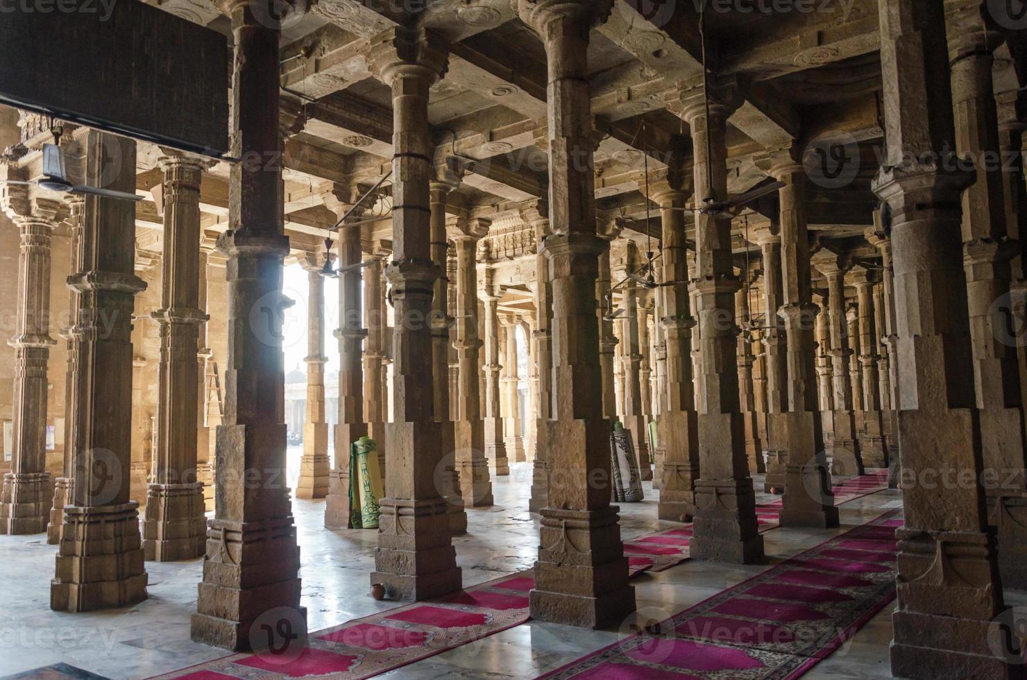 Mosquée jama masjid à ahmedabad, gujarat photo