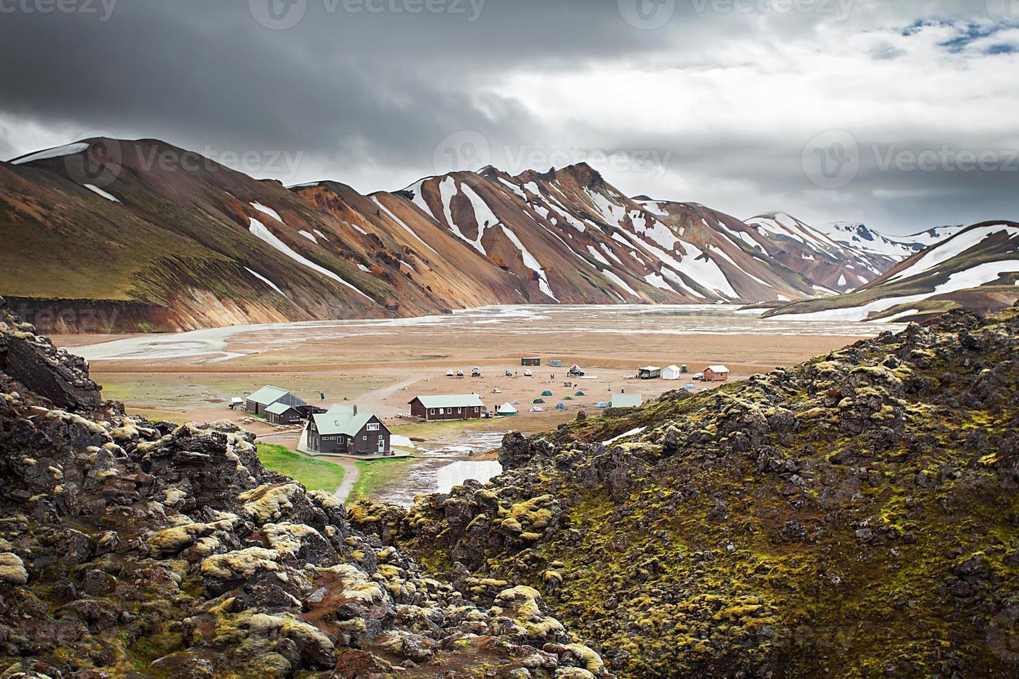 Landmannalaugar Camping, Islande photo