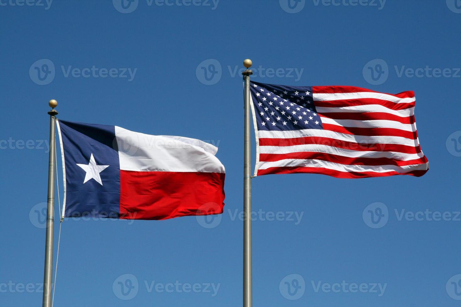 le texas et le drapeau américain photo