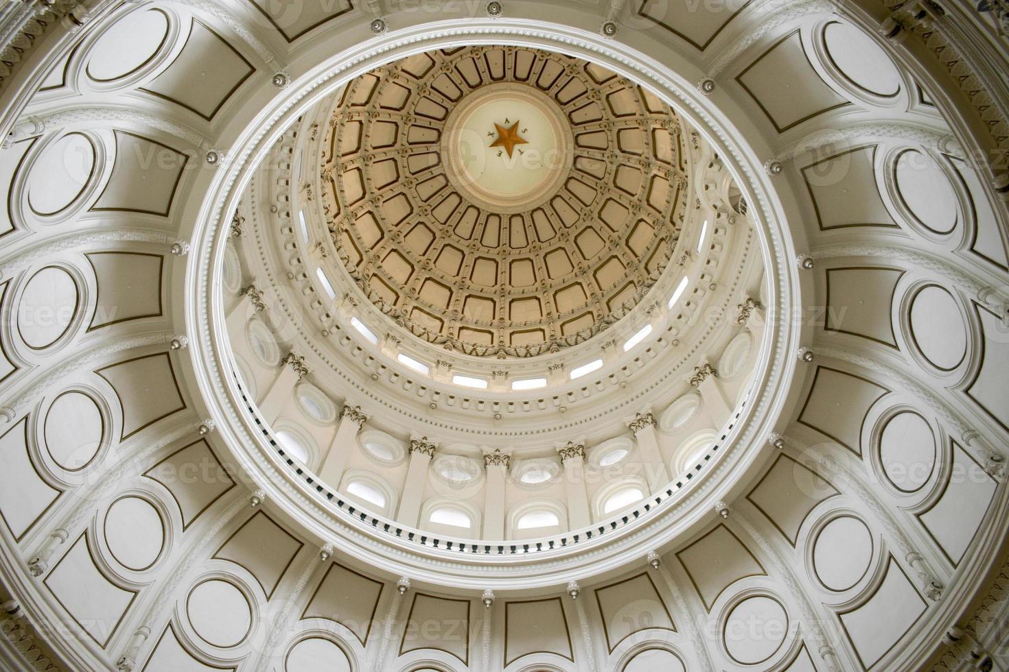 Rotonde du bâtiment de la capitale de l'État à Austin, Texas photo