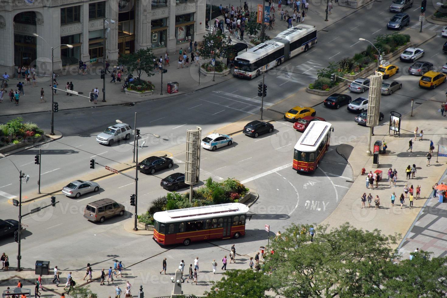 rue animée de la ville photo