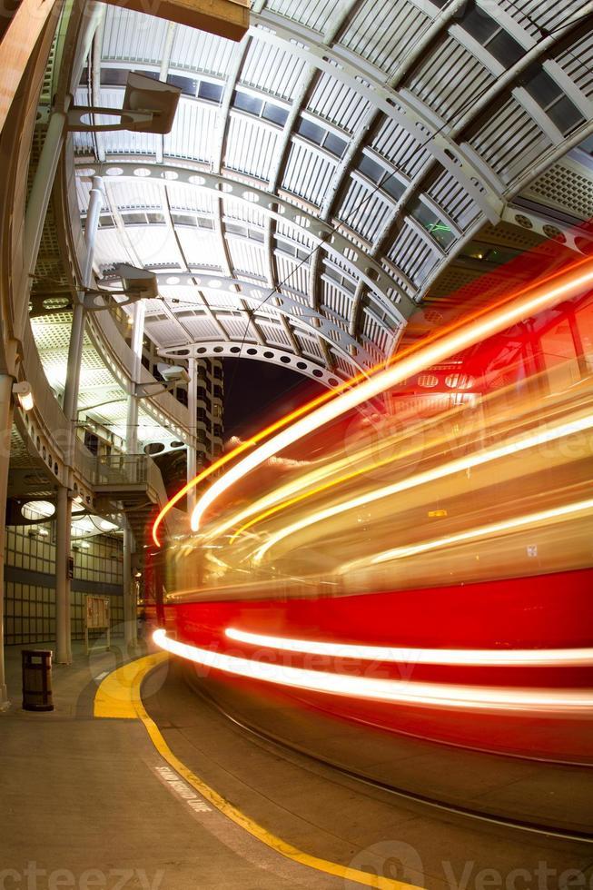 flou de vitesse du chariot photo