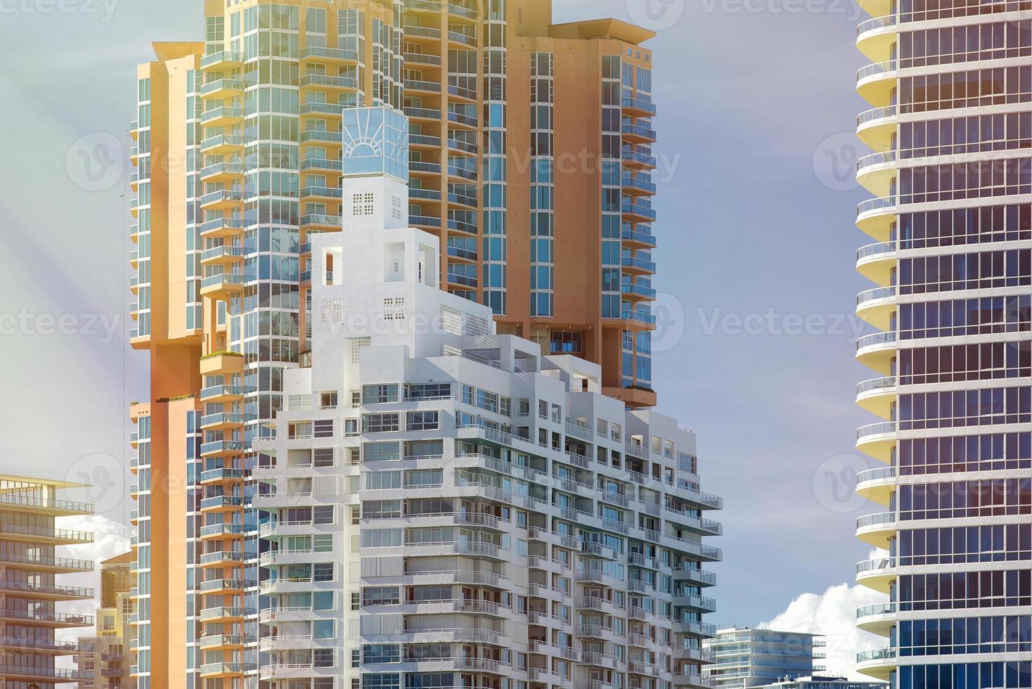 architecture de la plage sud de miami photo