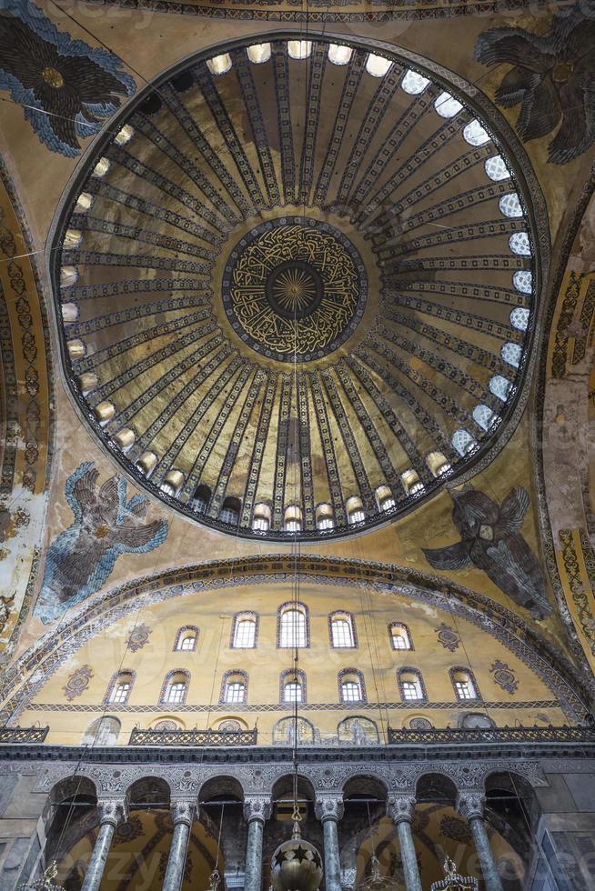 mosaïques ange et dôme de hagia sophia photo