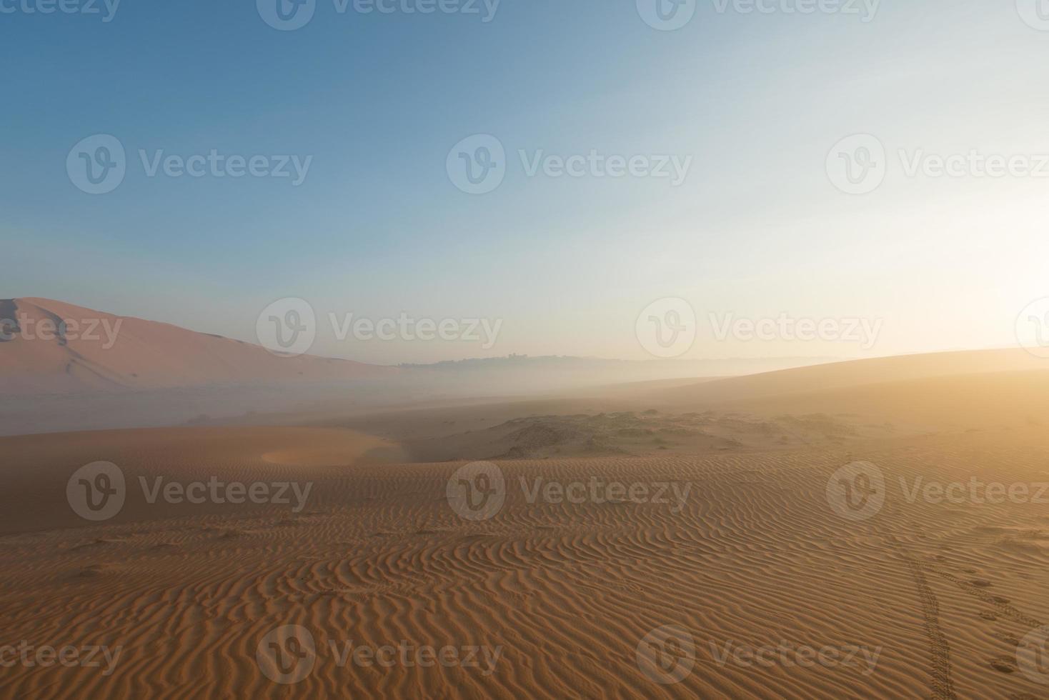 lever du soleil dans l'oasis photo