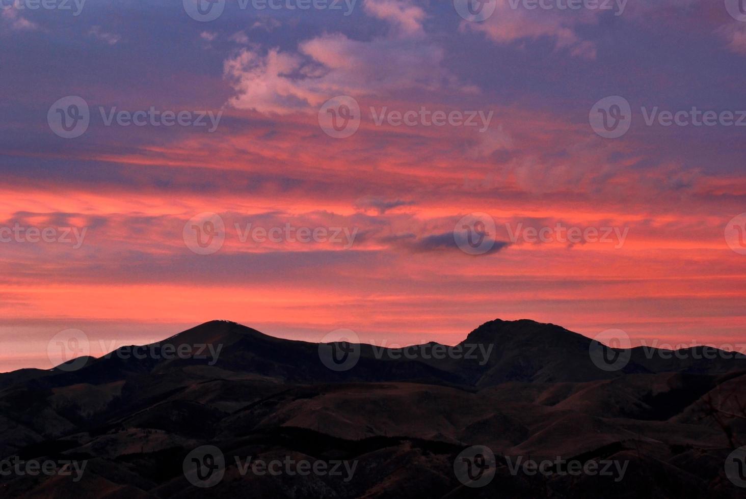 coucher de soleil mirage photo