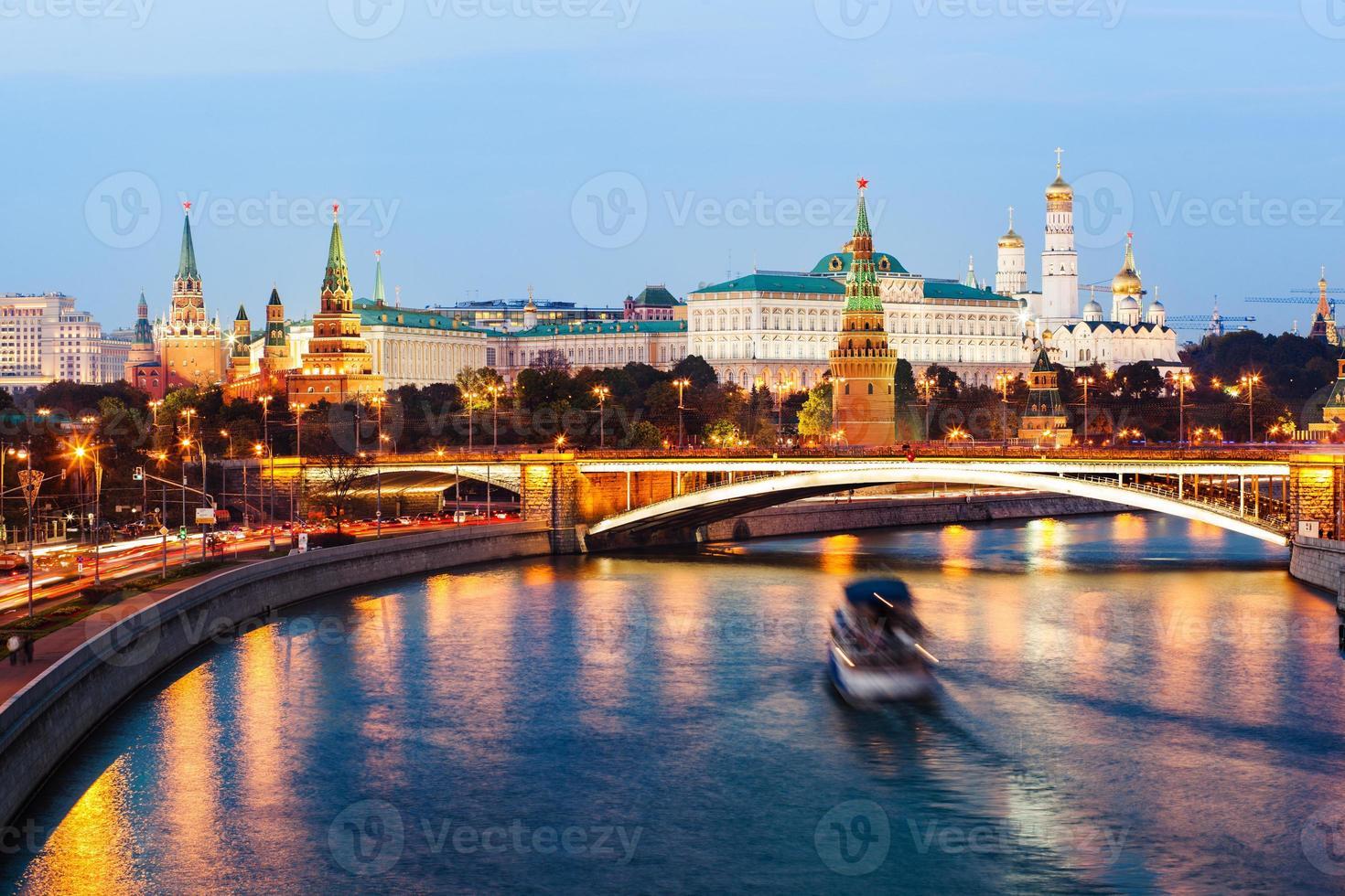 Kremlin de Moscou au coucher du soleil photo