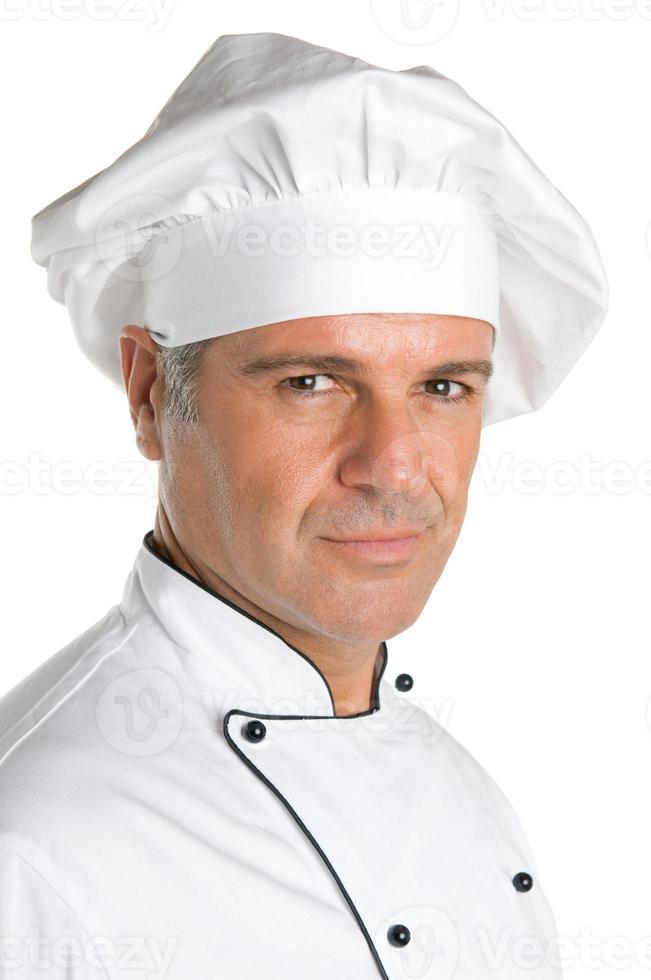 chef professionnel souriant photo