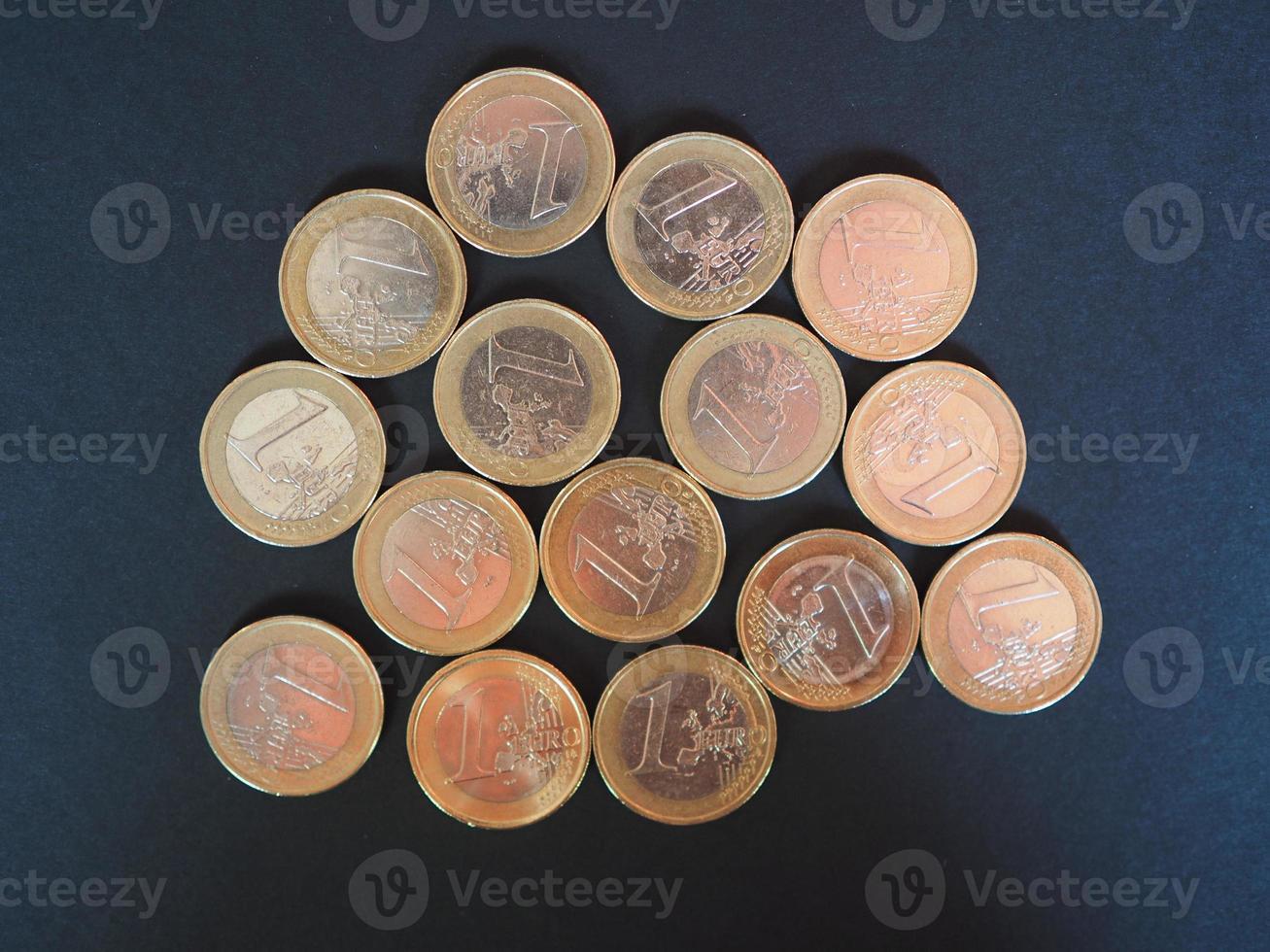 euro pièces d'argent photo