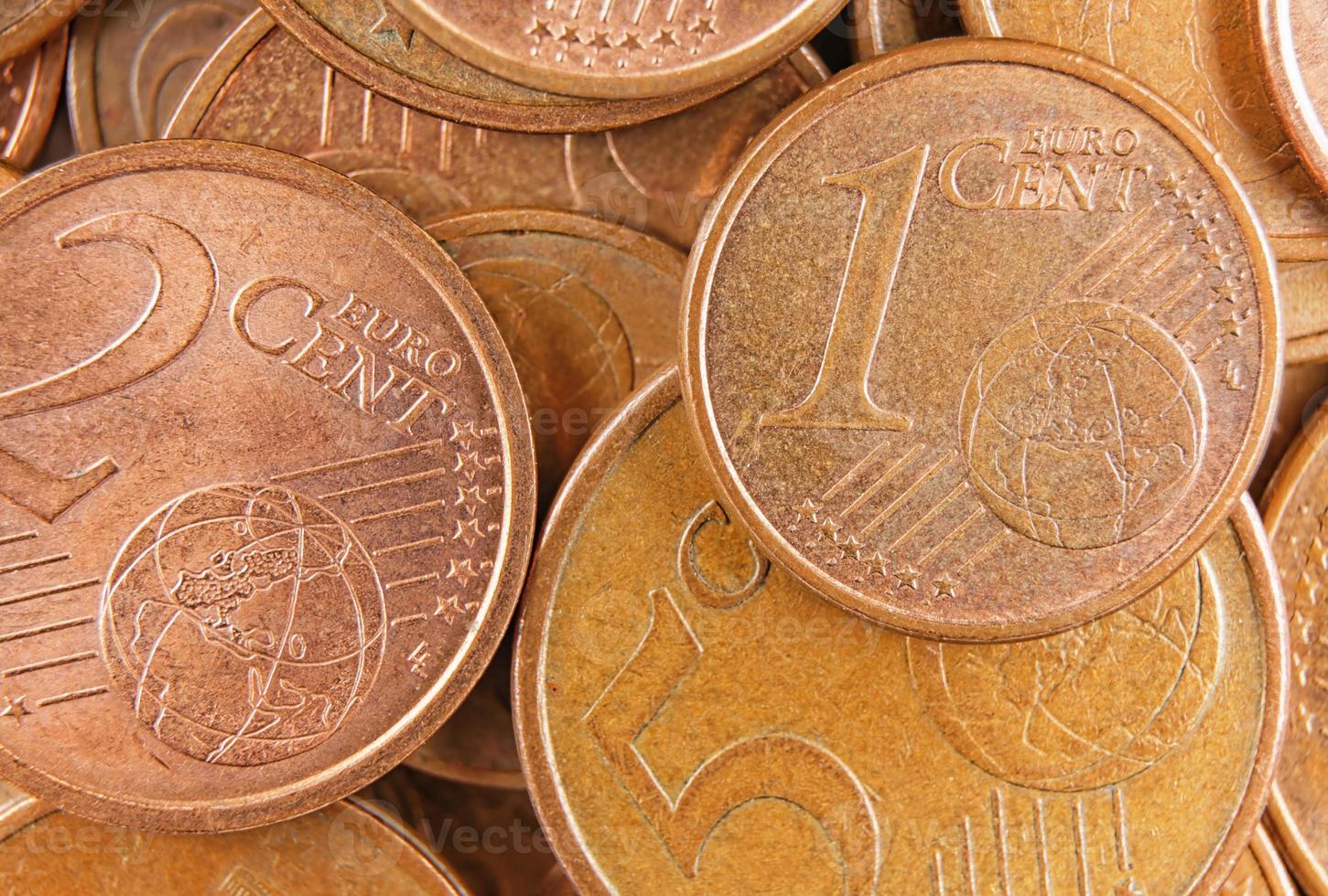 vue de dessus euro argent photo