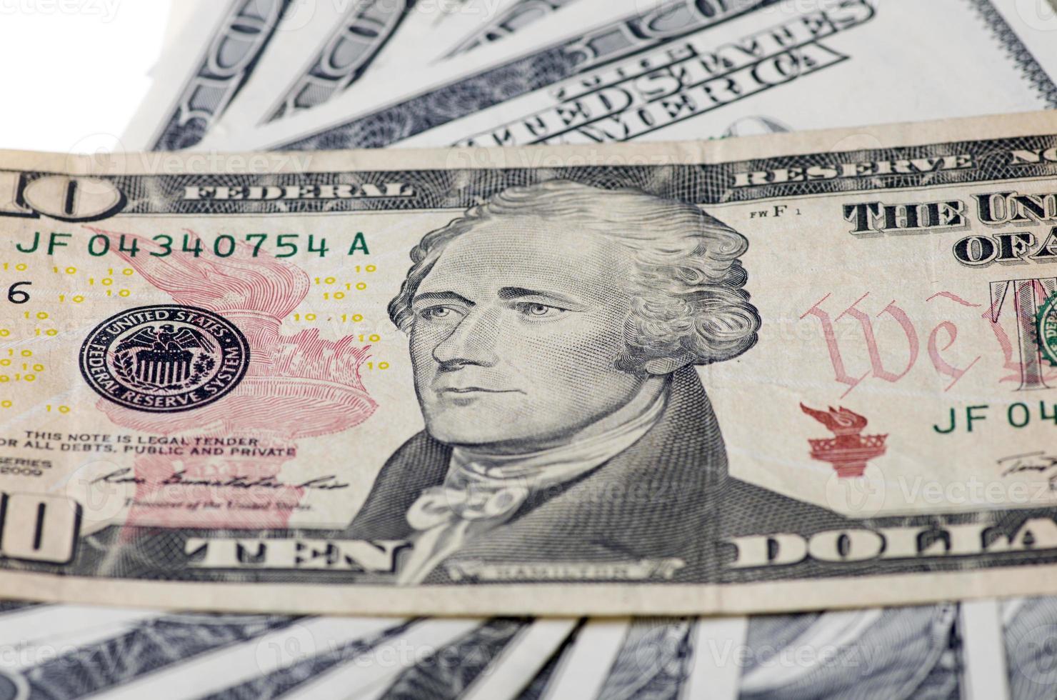 dix dollars aux états-unis d'amérique photo