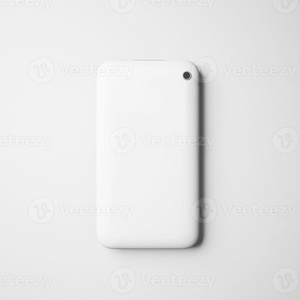 dos blanc d'un téléphone moderne photo
