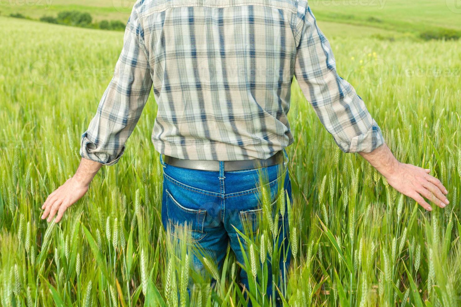 agriculteur dans le champ photo