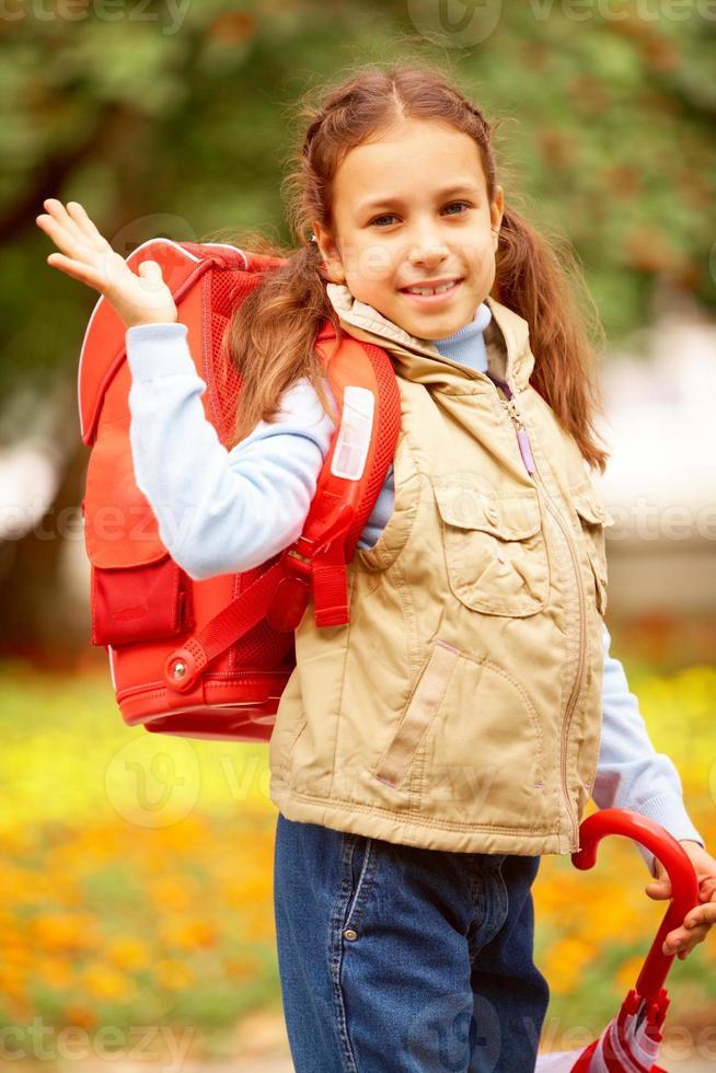 écolière heureuse photo