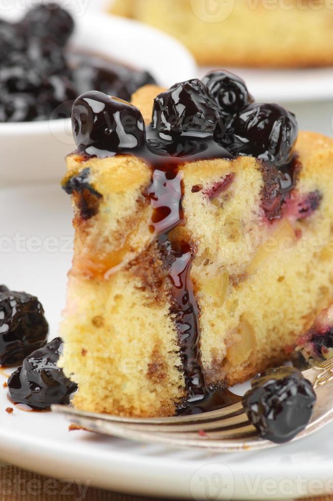 gros plan de tarte aux fruits photo