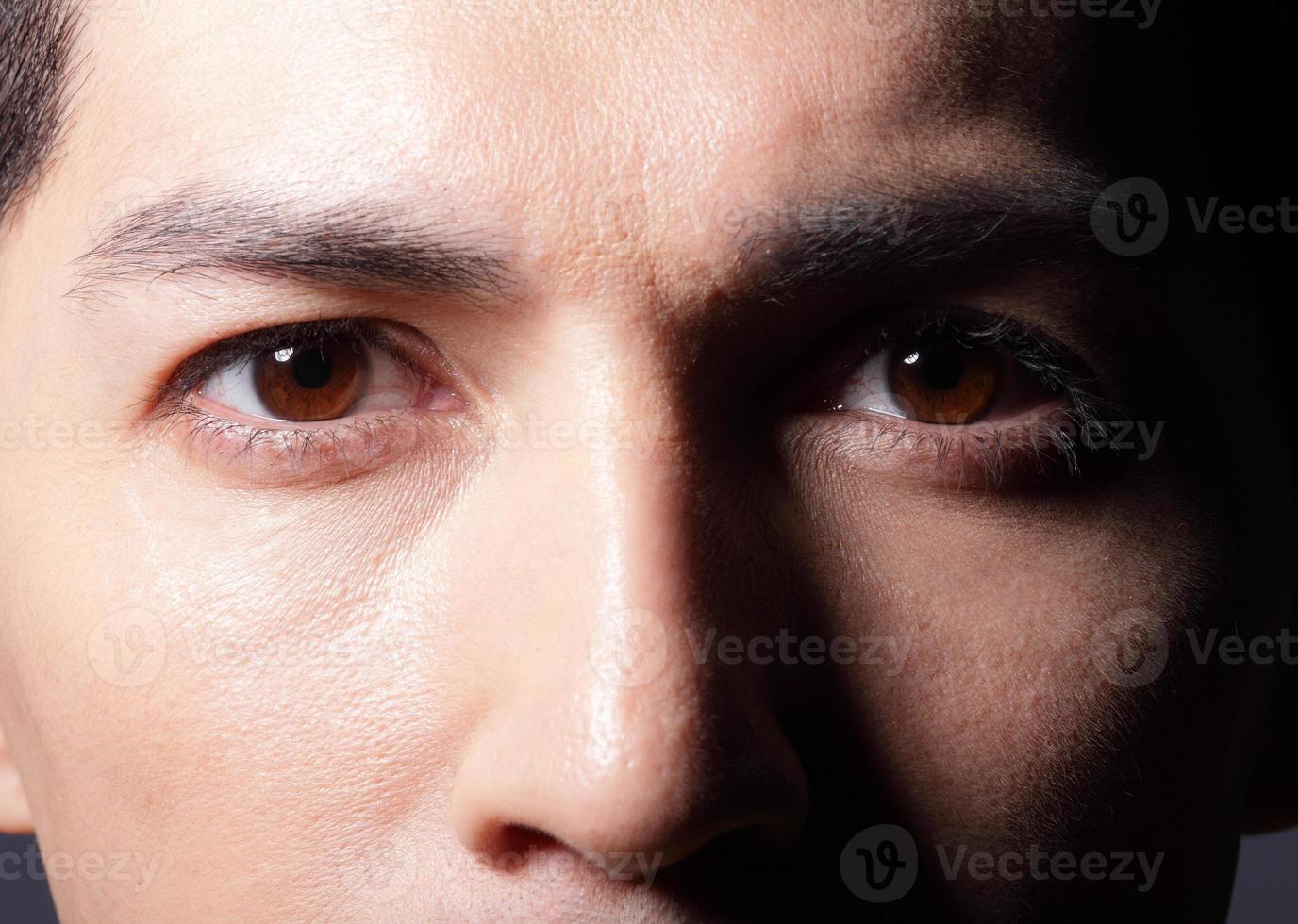 gros plan des yeux photo
